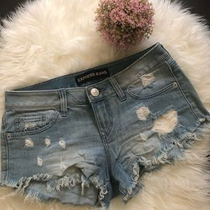 Express Distressed Jean Shorts💖